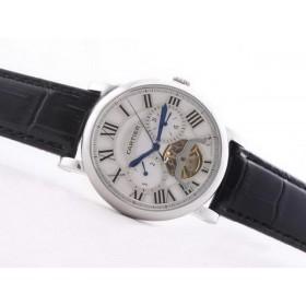 カルティエ コピー時計 代引き  バロン ブルー ドゥ    ウオッチ   カドラン  ブラン    手巻き    オートマティック   ケース