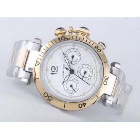 カルティエ  偽物腕時計代引き対応安全  パシャ   ウオッチ   ブラン  -バージョン   オートマティック