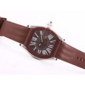 カルティエ 時計 コピー  サントス   ウオッチ  オートマティック   Pvd    ブラック   カドラン  専門店安全なところ