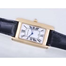 カルティエ コピー 時計  タンク   ウオッチ   カドラン  ブラン     ローズ