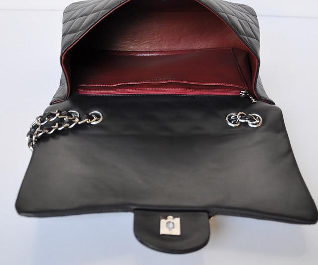 シャネル羊革 ECS009227 女性 ショルダーバッグ ブラック CHANELシャネル