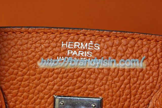エルメス バーキン25センチ 031126  オレンジ