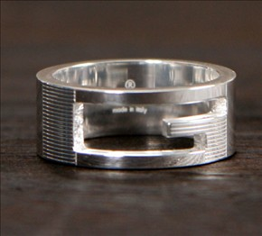 品番:ACGU032661098408106★グッチ Gリング【指輪】 スターリングシルバー 0