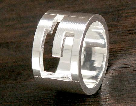 品番:ACGU032667098408106★グッチ Gリング【指輪】 スターリングシルバー 0