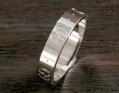 品番:ACGU073230098509000グッチ GGリング【指輪】 ホワイトゴールド 073230