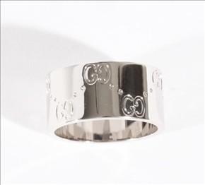 品番:ACGU073238098509000グッチ GGリング(指輪) ホワイトゴールド 073238