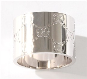 品番:ACGU073234098509000グッチ GGリング(指輪) ホワイトゴールド 073234