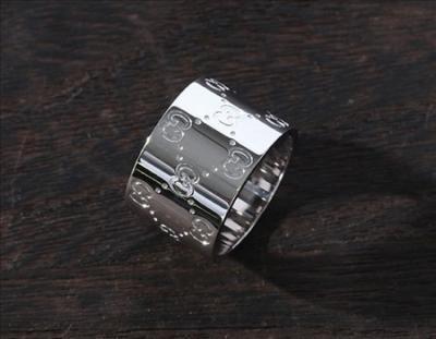 gucci スーパーコピー代引きACGU073234098509000 GGリング(指輪) ホワイトゴールド 073234