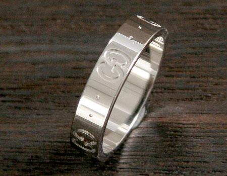 品番:ACGU073230098509000★グッチ GGリング【指輪】 ホワイトゴールド 0732