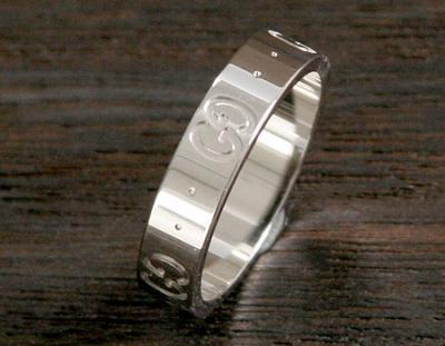 コピー gucci通販ACGU073230098509000 GGリング【指輪】 ホワイトゴールド 0732
