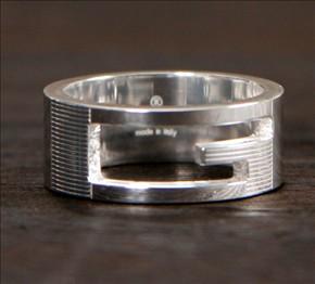 品番:ACGU032661098408106グッチ Gリング【指輪】 スターリングシルバー 032