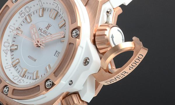 HUBLOT キングパワー オーシャノグラフィック4000 キングゴールド ホワイト 世界限定100本 731.OE.2180.RW腕時計激安代引き