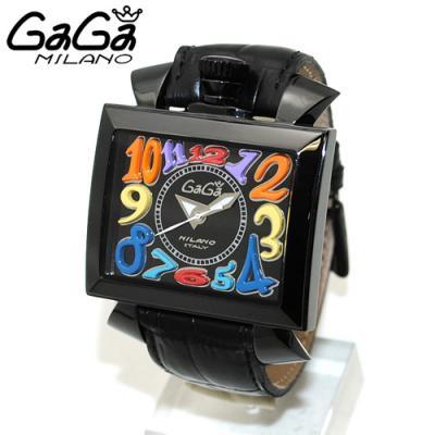 ガガミラノ時計コピー代引き NAPOLEONE ナポレオーネ 48mm ブラック レザー/ブラック 6002.1