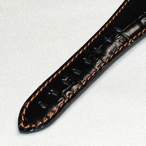 GaGa MILANO ガガミラノ ブラックレザー/シルバー/オレンジ 5010.11S