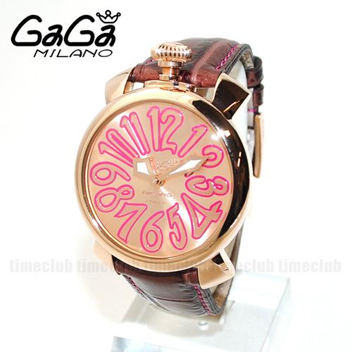 GaGa MILANO (ガガミラノ)  レザー/ピンク/ピンクゴールド 5021.08