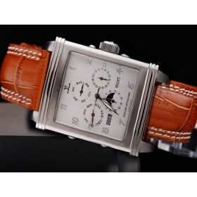 ジャガ•ールクルト コピー時計代引き対応安全 ステンレススチール カドラン ブラン オートマティック ウオッチ