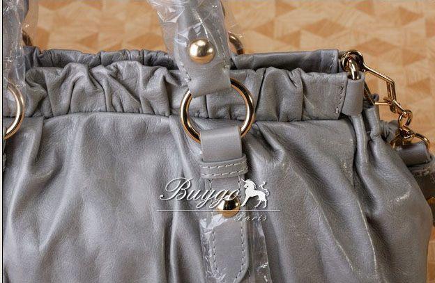 ミュウミュウ   VITELLO LUX 2wayハンドバッグ ライトネイビー RT0383-X72-770