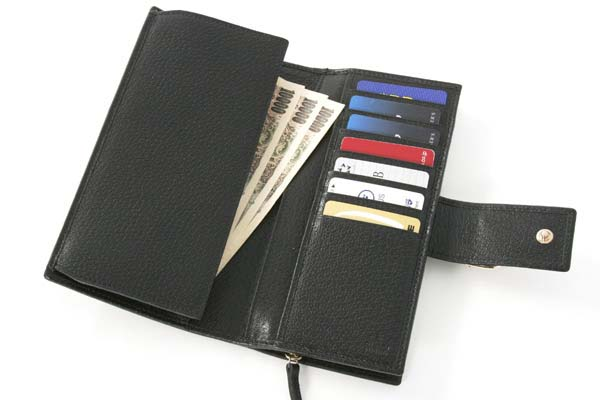 (GUCCI)グッチコピー財布 GG柄 長財布 ブラック 154256F4DYG1000