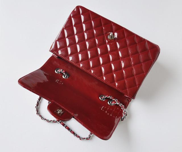 赤い シャネルエナメル CHANELシャネル 女性 ショルダーバッグ ECS009229