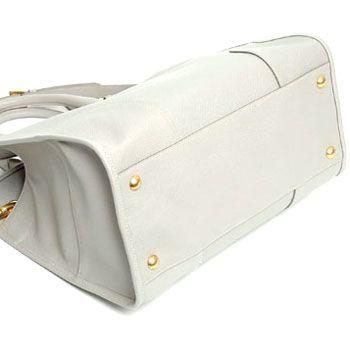 プラダ SAFFIANO LUX レディース2wayトートバッグ ライトグレー BN2254-NZV-D32