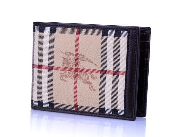 バーバリー コピー商品 クラシックチェック 二つ折り財布 3206938 財布代引き対応安全