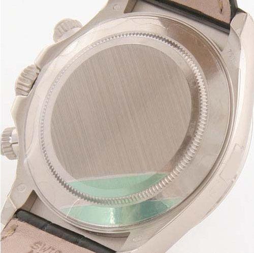 ロレックス Ref.116519G デイトナ WG金無垢 コスモグラフ 8Pダイヤ クロコレザー ブラック メンズ