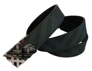 バーバリー スーパーコピーブランドベルト通販後払いブラックレーベルチェック シルバーバックル BBBELT08