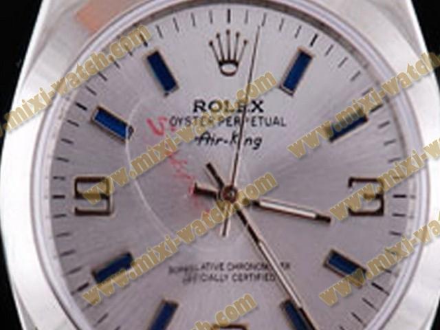 ロレックス エアキング ステンレススチール カドラン ブラン オイスター パーペチュアル オートマティック ウオッチ