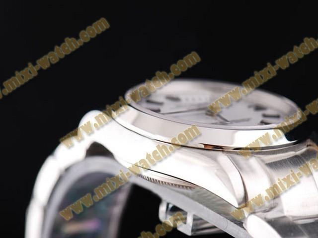 ロレックス エアキング ステンレススチール ケース アベック カドラン ブラン ブレスレット オイスター パーペチュアル スイス 2836 ムーブメント オートマティック ウオッチ