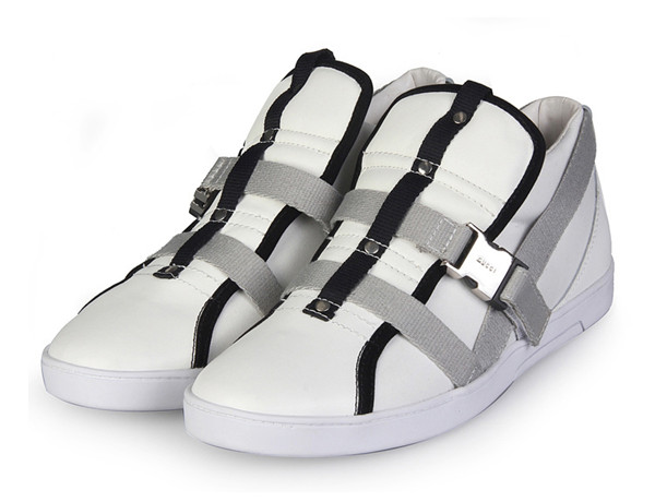 グッチ スニーカー カジュアルシューズ メンズ 靴 本革 ホワイト 780-2