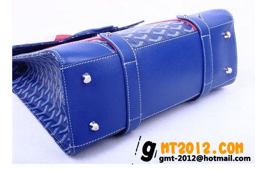 ゴヤール バッグ サイゴンMM ブルー×レッド系GOYARD-056