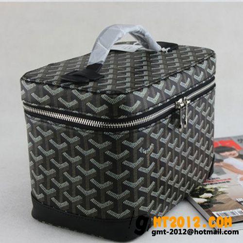 ゴヤール ボックス 化粧バッグ ブラックGOYARD-074