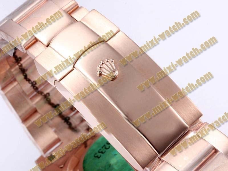 ロレックス エアキング ステンレススチール コムプレット バージョン ローズ カドラン シャンパン オイスター パーペチュアル オートマティック ウオッチ