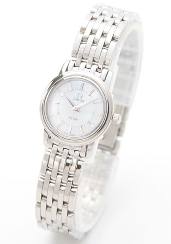 コピー腕時計 オメガ デビル プレステージ 4570.72 ホワイトシェル レディースミニスーパーコピーブランド腕時計