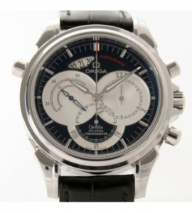 コピー腕時計 オメガ デビル 4847.50.31 コーアクシャル ラトラパンテ クロコレザーメンズレプリカ激安代引き対応