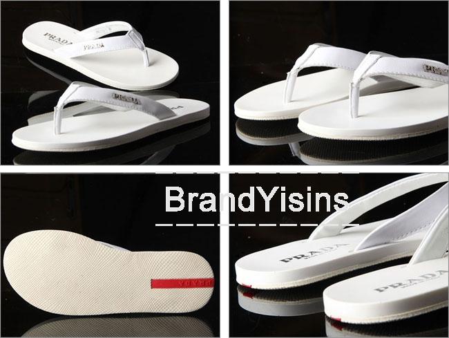 プラダ トングサンダル ビーチサンダル メンズ ホワイト PR275019-1