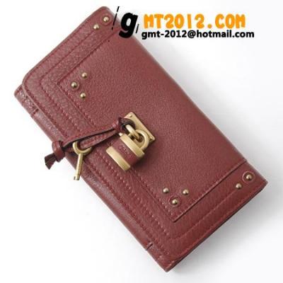 2014年春夏新作クロエ レプリカ財布代引き対応安全 8ep041-7e422-540 長財布 パディントン チェリーレッド 通販日本