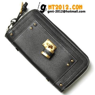 7epm02 7e422 001  スーパーコピー クロエ財布 ラウンドファスナー長財布ブラック 代引き通販