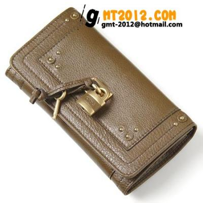8ep041 7e422 645 クロエ財布コピー代引き対応安全 長財布 小銭入れ付き ダークオリーブグリーン