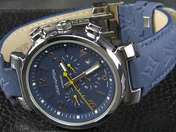 ルイヴィトン   時計超美品青文字盤41mm LV-023