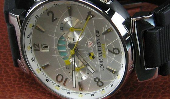 ルイヴィトン   時計シルバー文字盤自動巻LV-010