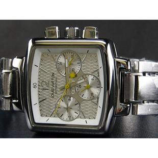 ルイヴィトン   時計自動巻ホワイト文字盤男性用LV-007