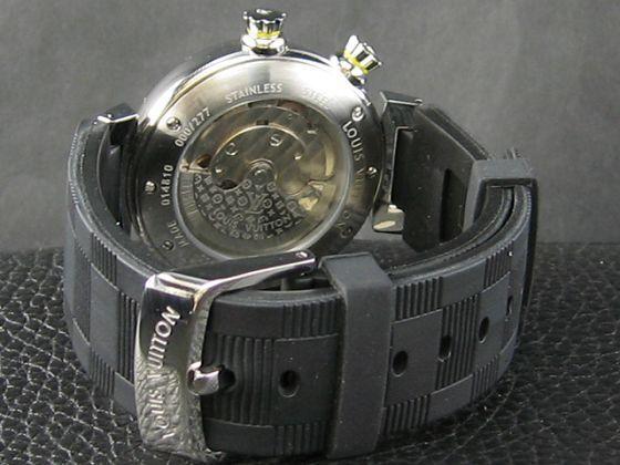 ルイヴィトン   時計美品自動巻黒文字盤(38mm)LV-006