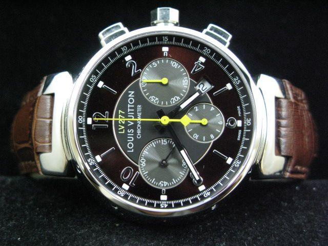 ルイヴィトン  時計 タンブール・クロノ・LV277・レザー・7750搭載 LVTC0104