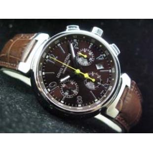 ルイヴィトン  時計 タンブール・クロノ・レザー・7750搭載 LVTC0102