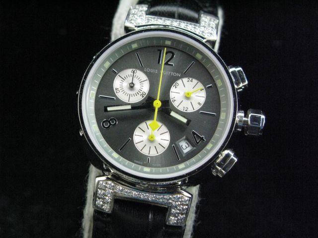 ルイヴィトン  時計 タンブール・クロノ・クォーツ・G LVTC0406