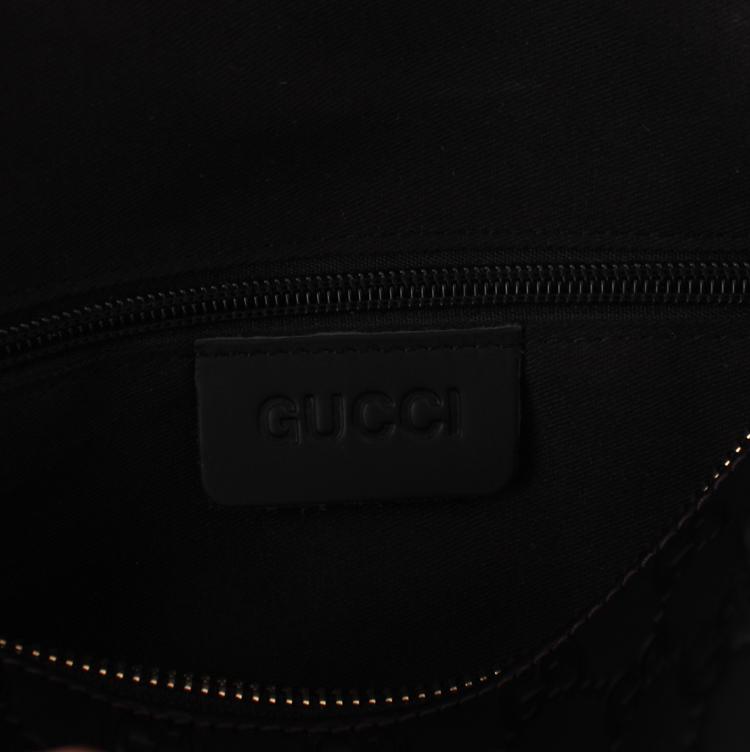 Gucciフルレザー ブラック 男性 ハンドバッグ メッセンジャーバッグ ショルダーバッグ 7968-21:1 GUCCIグッチ