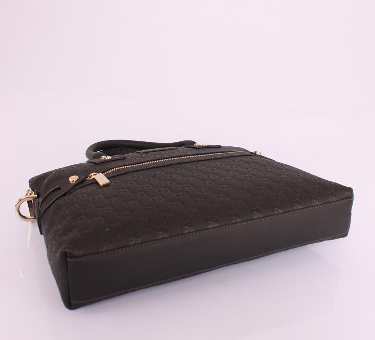 Gucciフルレザー 男性 ハンドバッグ メッセンジャーバッグ ショルダーバッグ GUCCIグッチ 7968-31:1 ブラック