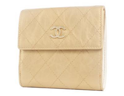 chanelスーパーコピー財布 ココマーク キルティング 二つ折財布