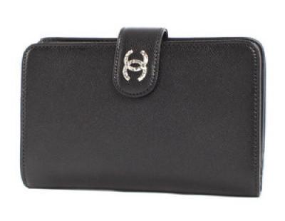 chanel スーパーコピー財布キャビアスキン 二つ折財布